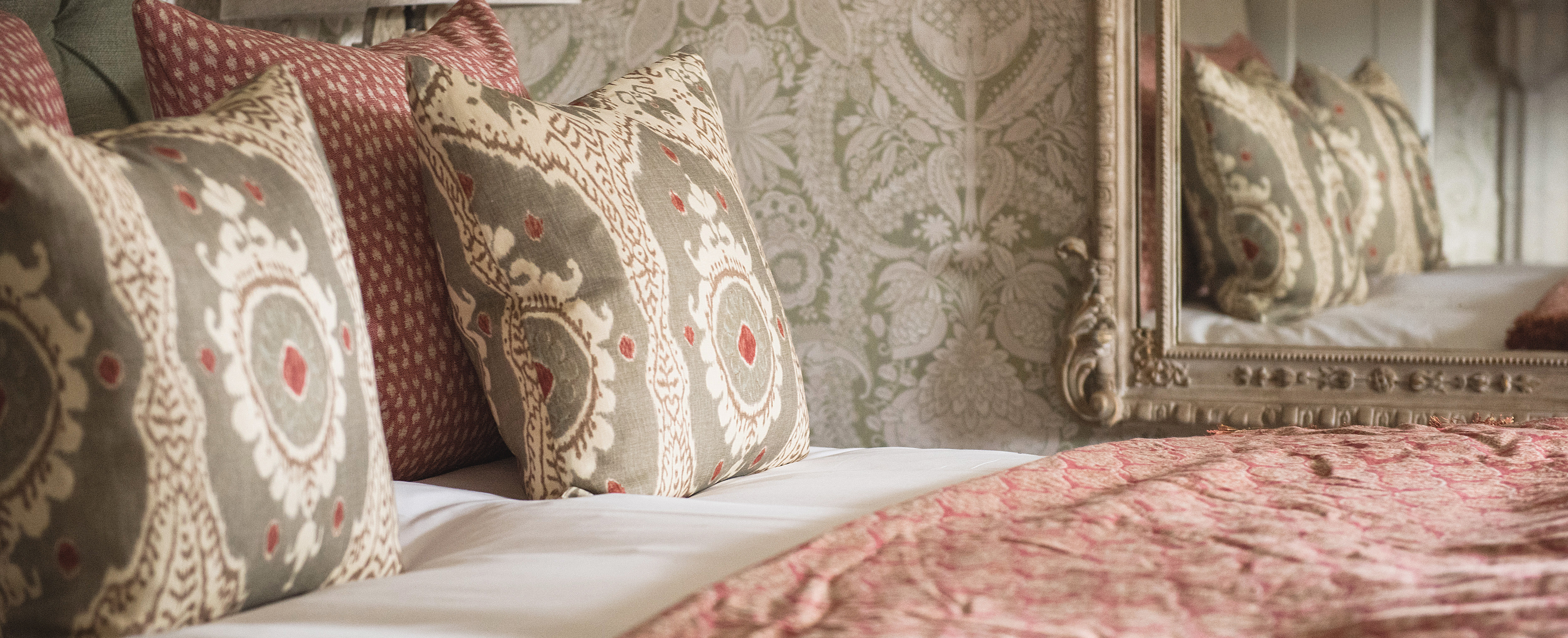 Lewis & Wood makes world-class fabrics and wallpapers at its own mill in Gloucestershire, ensuring short lead times and quality control.