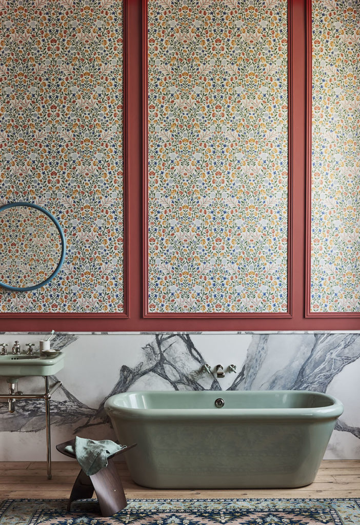 'Court Embroidery' wallcovering, Cole & Son