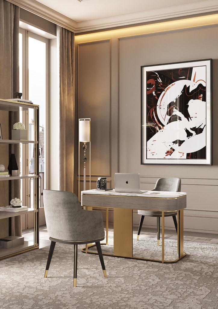 'Lugano' bookcase, 'Ashi' desk and 'Misool' chair,, Frato