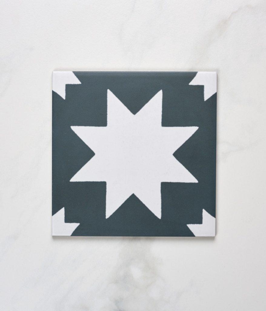 'Memphis' tile, graphite, Artisans of Devizes