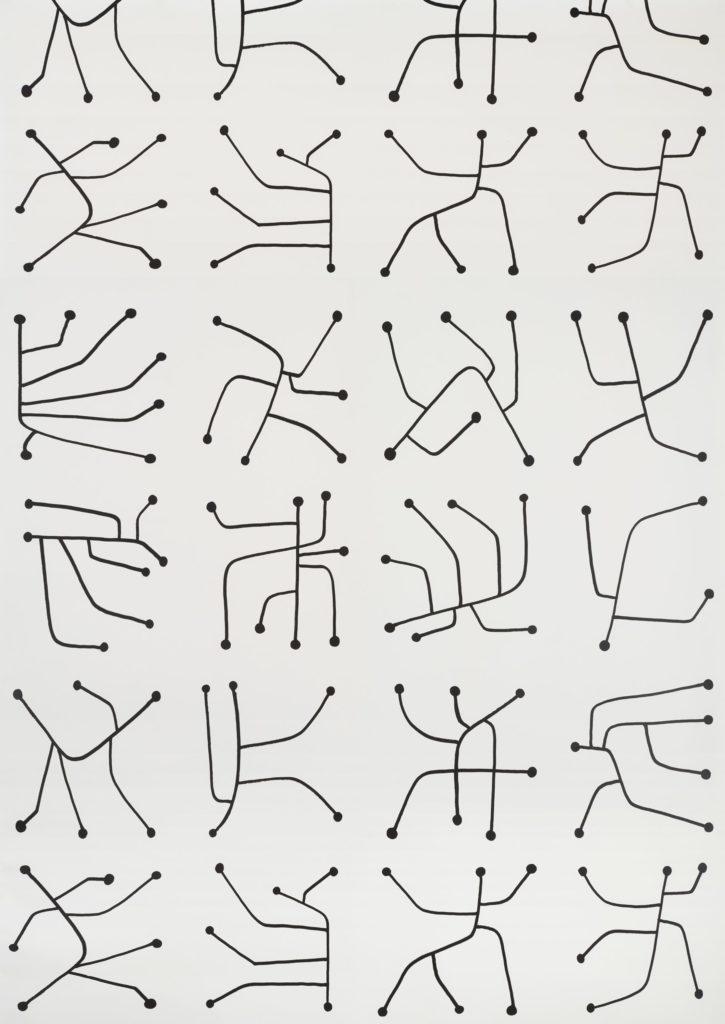 'Vrillette' wallcovering, Pierre Frey