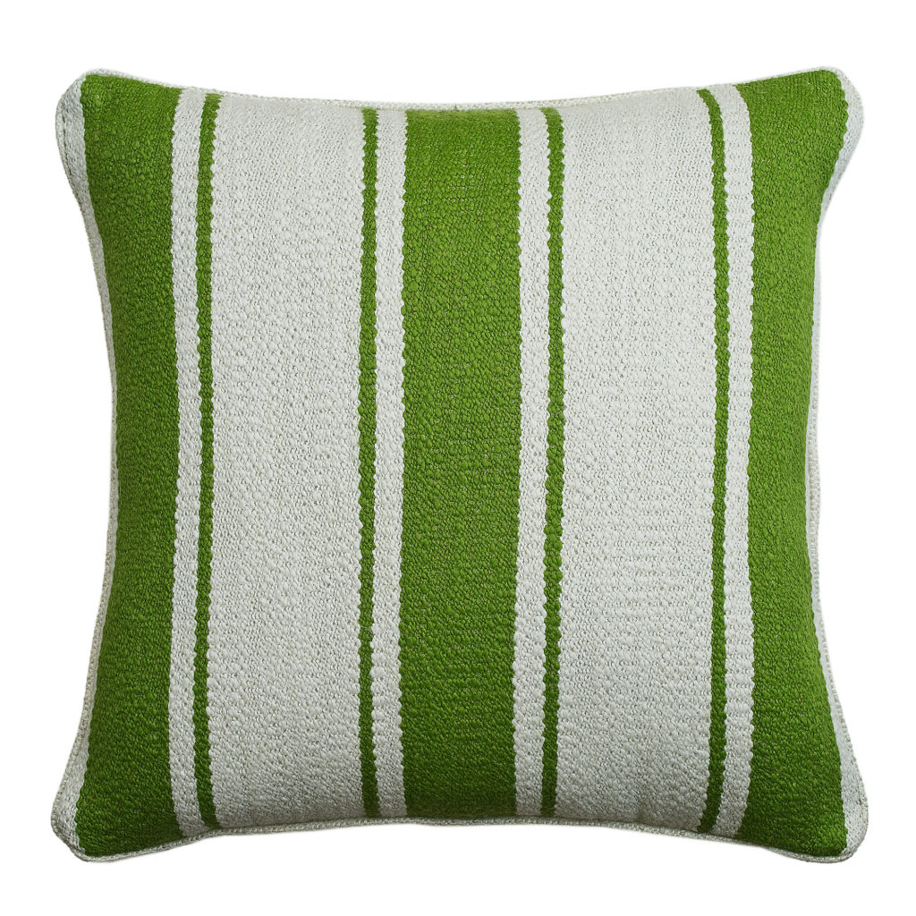 'Mountain Stripe' cushion, meadow, Andrew Martin