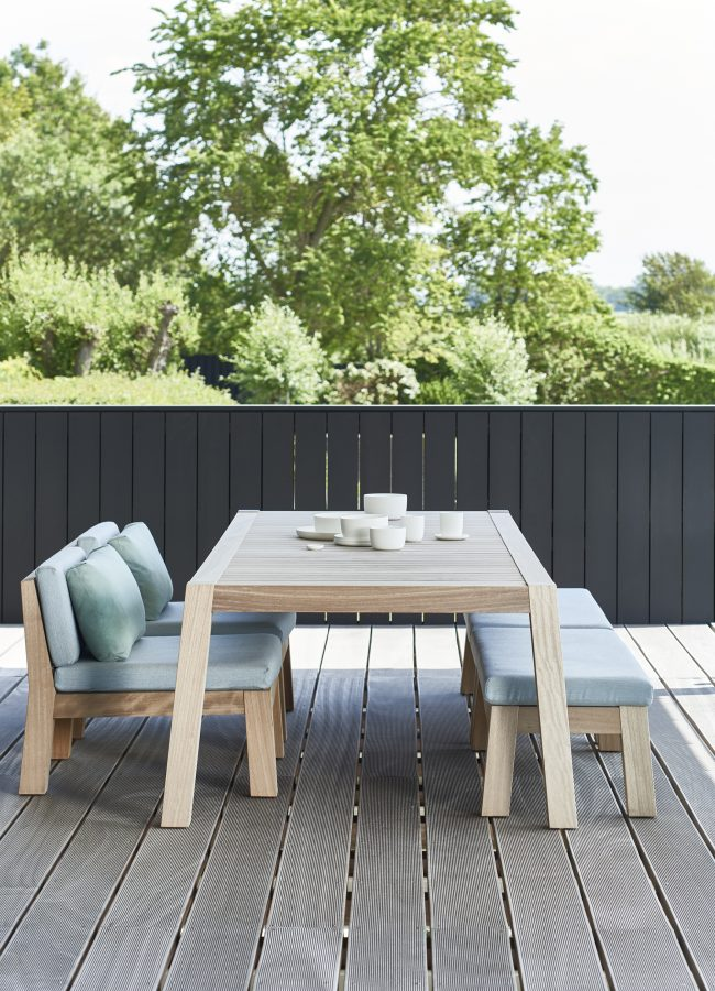 'Anne' table and 'Niek' chairs and bench, Piet Boon at Tollgard