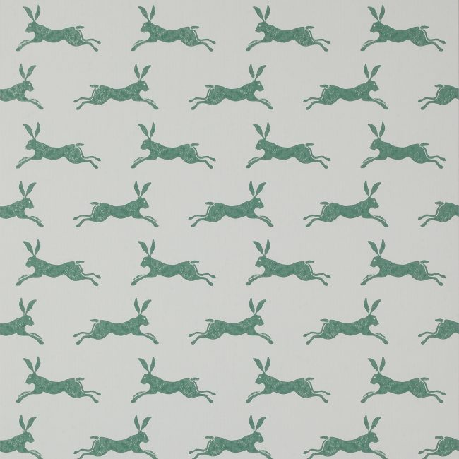 'March Hare' wallcovering, Jane Churchill at Colefax and Fowler