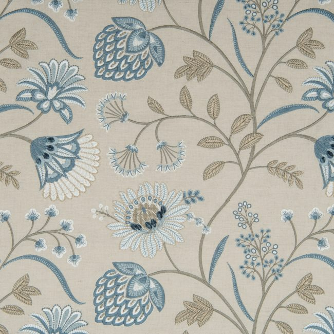 'Siam' fabric, natural eton blue, James Hare at Marvic Textiles