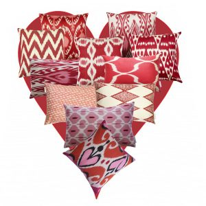 Silk ikat cushions, from a selection, Jennifer Manners Design