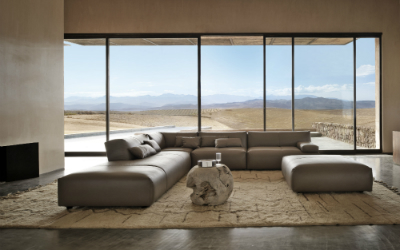 LUXURY LIVING - Fendi Casa - FF Agadir leather sofa 1