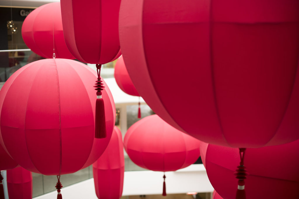 East Meets West - red lanterns at DCCH