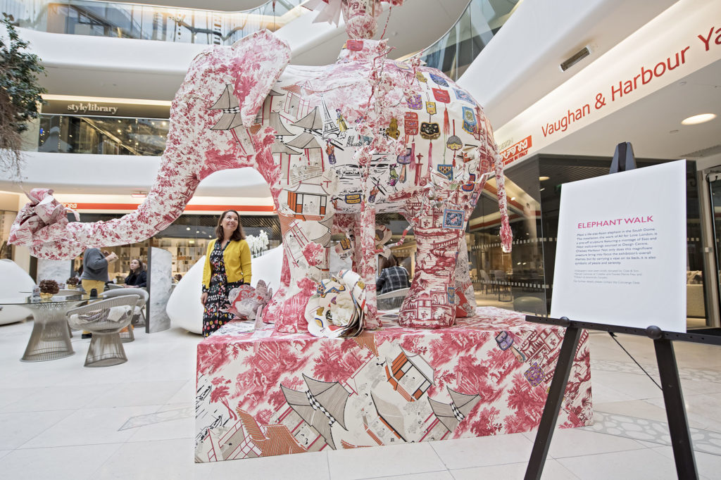 East Meets West - elephant designed by All For Love London at DCCH