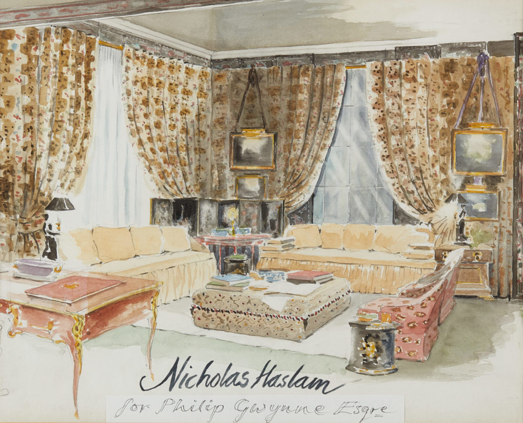 Nicky Haslam's drawings and watercolours at the Design Club