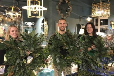 Wreath making workshop at Julian Chichester
