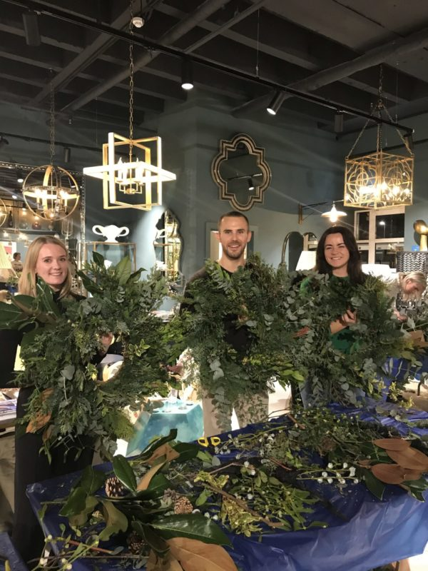 Wreath making workshop at Julian Chichester