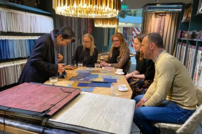 Japanese wallpaper workshop at Lizzo