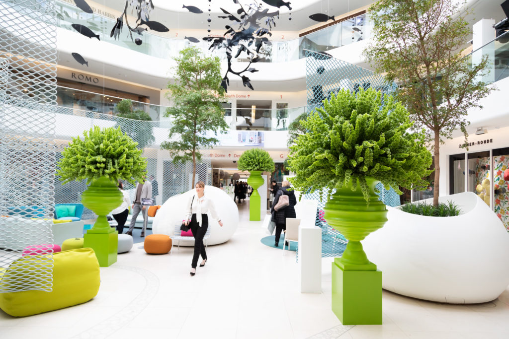 Paola Lenti installation at London Design Week 2020 at DCCH