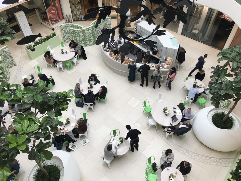 South Dome cafe - London Design Week 2020 at DCCH